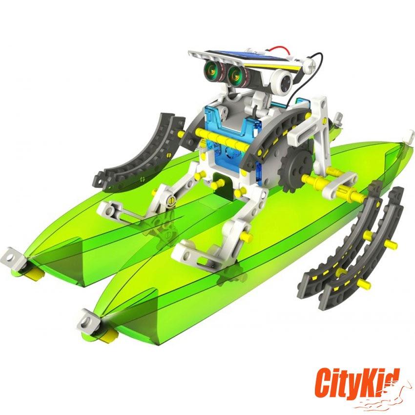 lắp ráp robot biến hình solar