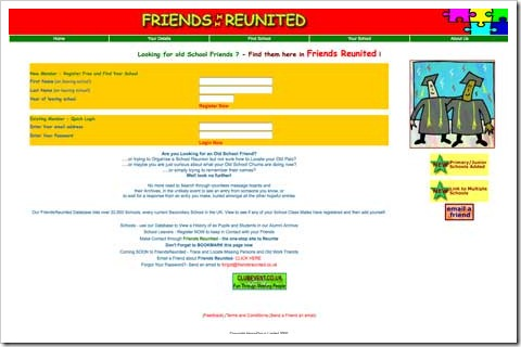 friendsreunited first look