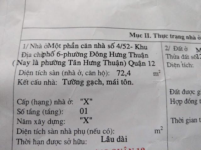 Bán nhà cấp 4 Mặt Tiền Đông Hưng Thuận 2 Quận 12 - 009