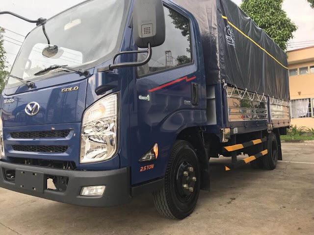 Xe tải IZ65 Đô thành thùng bạt chia 2 khoang, thiết kế hạ 5 bửng, chiều dài : 4.310 x 1.960 x 670/1850 mm