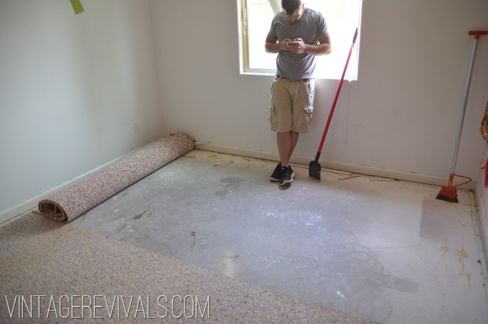 How to clean concrete floor after removing carpet gurus for How to mop concrete floor