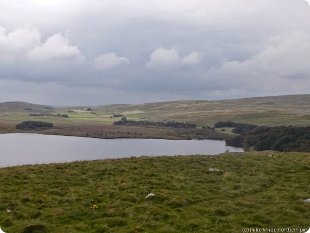 clouds and rain arrive at malham tarn