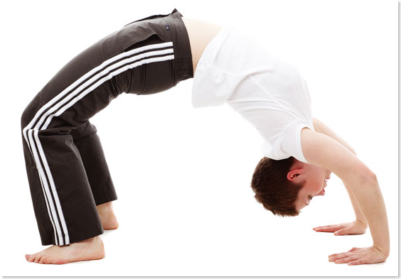 backbend strenous exercise