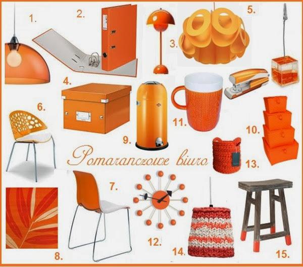 pomarańczowe biuro