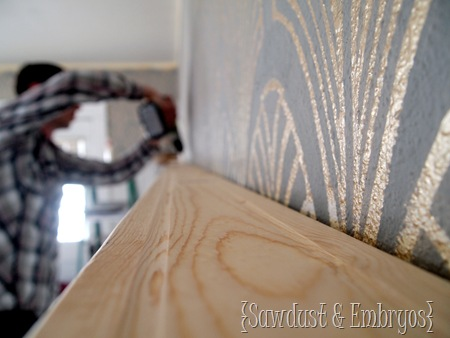 Crown Molding Shelf Tutorial by Sawdust and Embryos