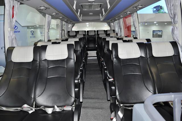 ghế hành khách 34 chỗ Đô thành bọc da sang trọng