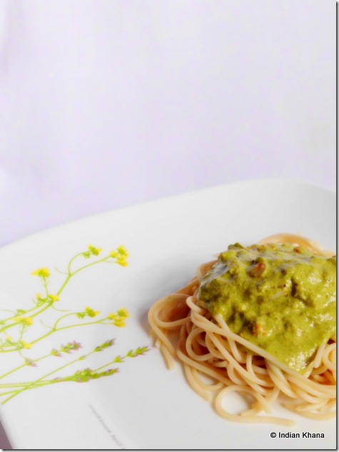 Palak Pesto Pasta Recipe