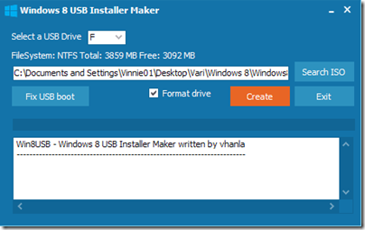 Win8USB - Windows 8 USB Installer Maker