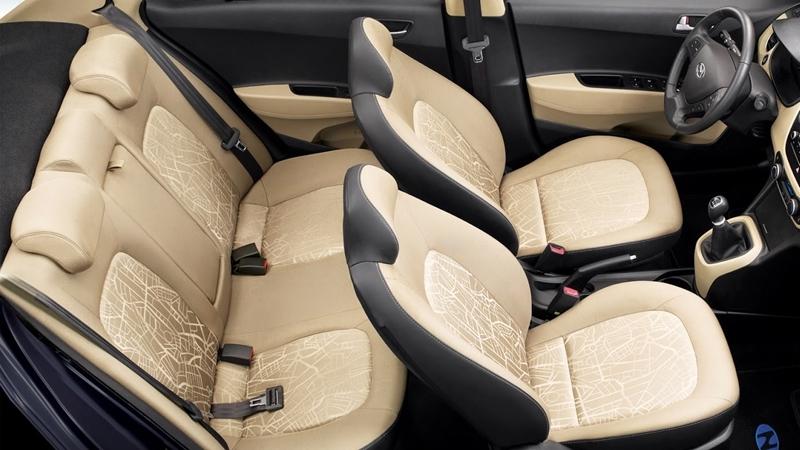 Nội thất xe ô tô Hyundai Grand i10 Nhập Khẩu màu trắng 05