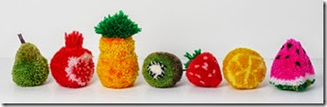 fruit pompoms 1