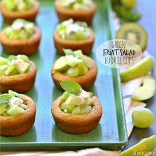 Green Fruit Salad Cookie Cups.