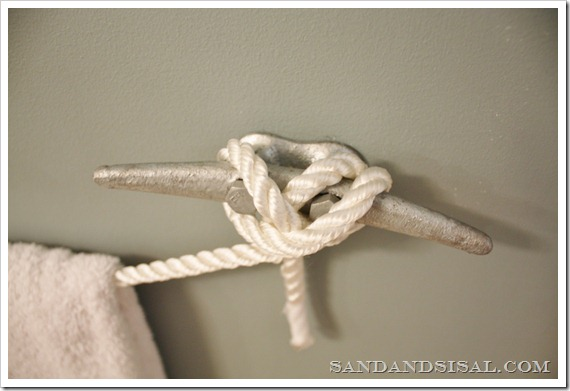 cleat towel rod