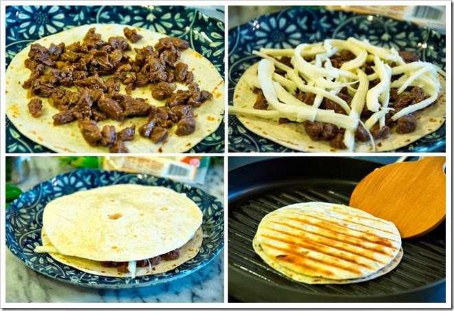 steak quesadilla | step by step instructions