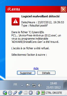 avira antivir gratuit 01net