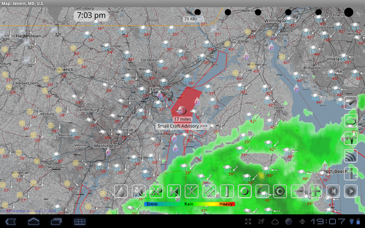 eWeatherHD,Radar,Alert,Eclipse - screenshot
