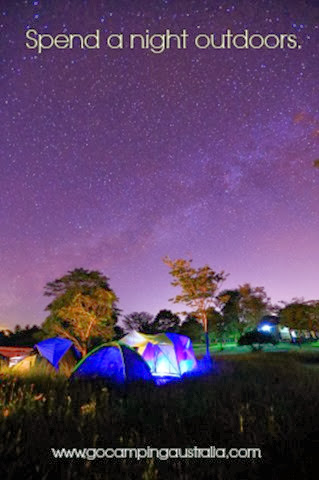 spend a night outdoors
