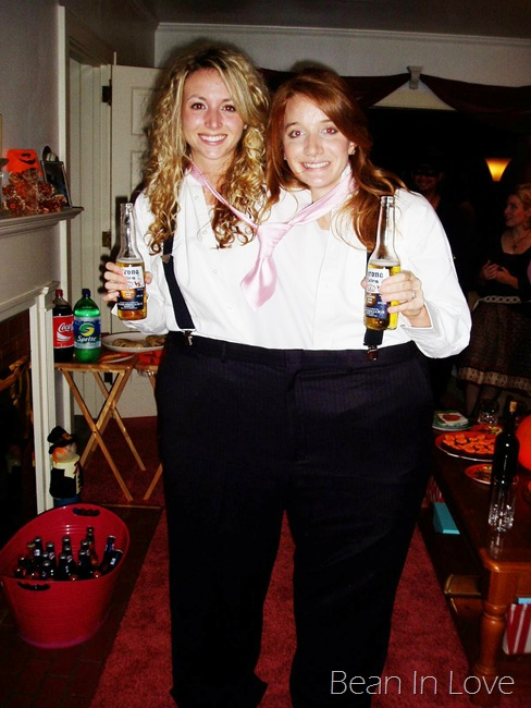 the year after we graduated we did it again and came up with thee perfect halloween costume this