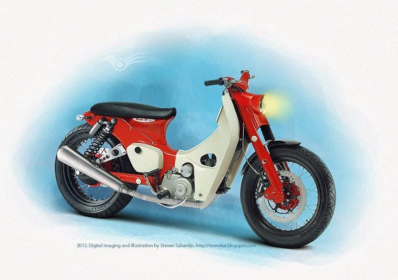 Yandroider: Honda Super Cup 70/80 Modifikasi Gaya Retro