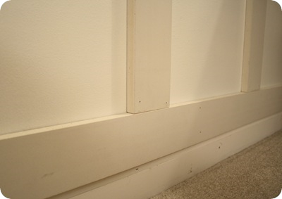 board and batten on top of baseboards