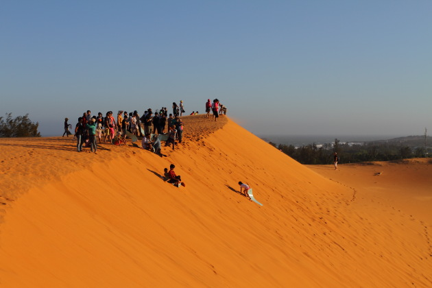 Sand Skiing at Mui Ne Red Sand Dunes, Vietnam