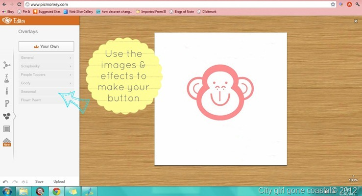 using picmonkey images for button