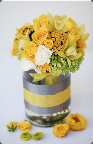 Yellow-and-Gray-Wedding-2 style me pretty