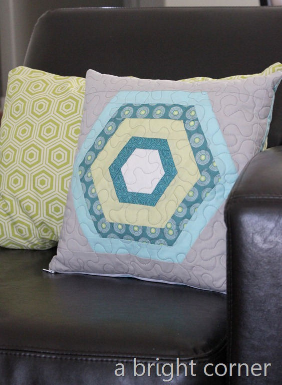 hexagon pillow 1