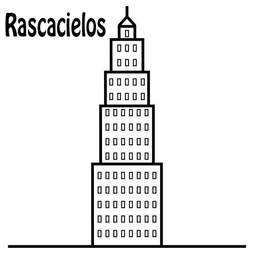 DIBUJOS DE RASCACIELOS PARA COLOREAR – Dibujos para colorear