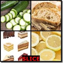 SLICE- 4 Pics 1 Word Answers 3 Letters