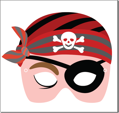 Colorear Tus Dibujos Mascara Antifaz De Pirata Para Imprimir