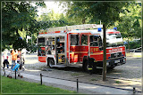 die Feuerwehr war auch da