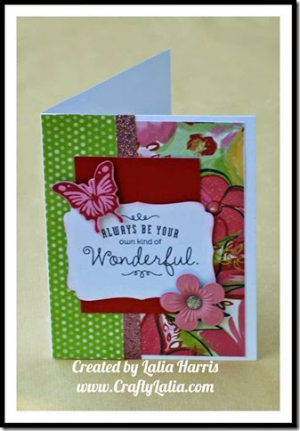 CTMH Brushed Paper with Be Your Own Kind of Wonderful D1627 By Lalia Harris
