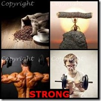 STRONG- 4 Pics 1 Word Answers 3 Letters