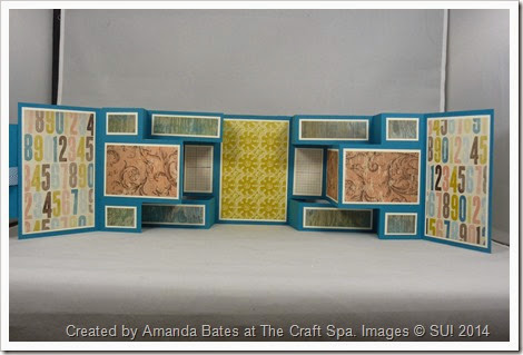 Soho Subway Double Tri Shutter Mini Book, Quad Fold, Amanda Bates, The Craft Spa (3)