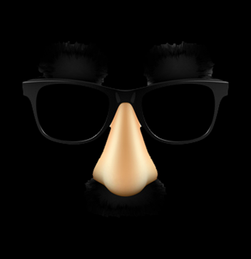 Funny disguise mask. Vector.