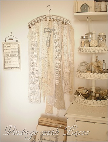Clothes Hanger with Lace
