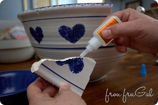 Using Gorilla Glue to Fix a Bowl
