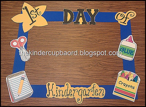 The Kinder Cupboard First Day Of Schoolpicture Frame
