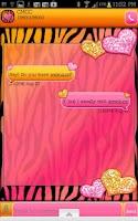 Screenshot of GO SMS - Hearts Zebra Mango 3