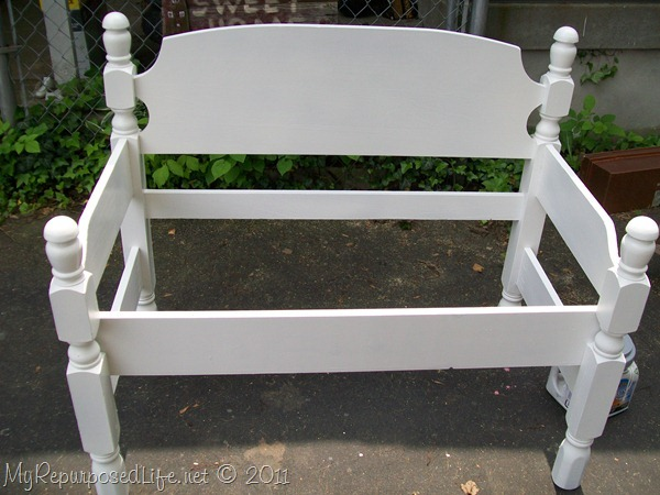 twin headboard bench