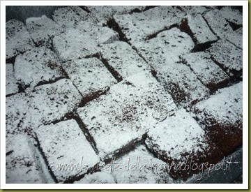 Brownies vegan al cacao con composta di pera e mela (7)