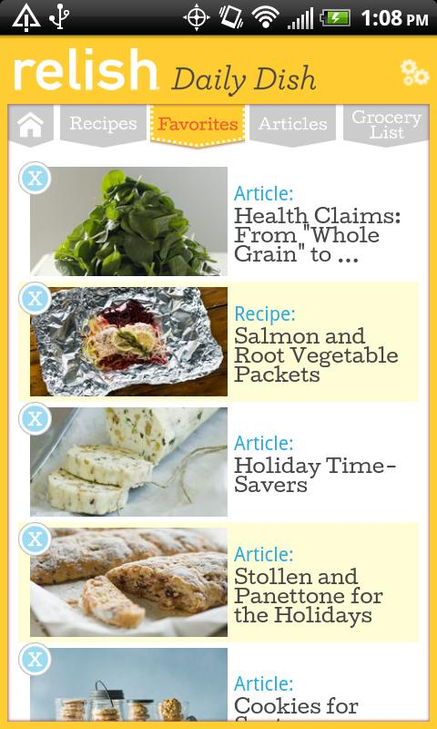Relish Daily Dish Recipes - screenshot