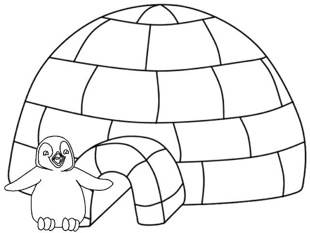 Iglus Dibujos Para Colorear