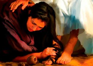 Chuyện người đàn bà tội lỗi lau chân Chúa Giêsu / Thứ Năm, tuần 24 tn