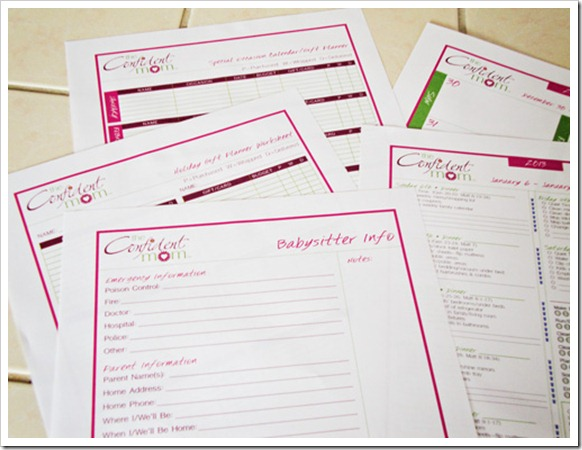 Organize Your Life - Weekly Household Planner