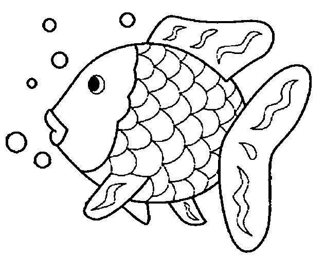 der regenbogenfisch ausmalbild