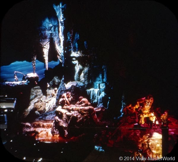 View-Master New York World's Fair 1964-1965 (A671),Scene 7: Walt Disney's Animated Cavemen—For Magic Skyway Ride