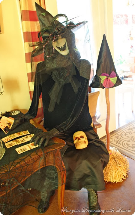 Halloween Witch-Bargain Decorating with Laurie