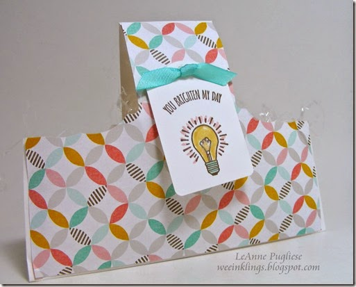LeAnne Pugliese WeeInklings Envelope Basket You Brighten My Day Stampin Up