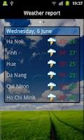 Screenshot of Vietnamese Weather Indicator